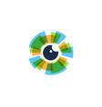 eye logo icon design vector image