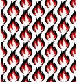 Fire symbols seamless pattern vector image vector image