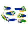 football soccer ball icons or banners vector image