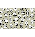Funny pandas seamless pattern for your design vector image vector image