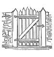 gate port vintage engraving vector image vector image