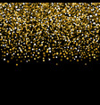greeting card with gold bright sequins vector image