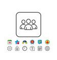 group line icon users or teamwork sign vector image