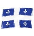Grunge Quebec flag vector image