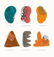 hand drawn contemporary trendy print collage vector image vector image