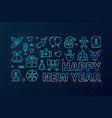 happy new year blue concept banner vector image vector image