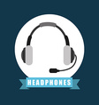 headset icon vector image vector image