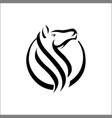 horse head logo template vector image vector image