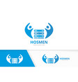 host and people logo combination server vector image vector image