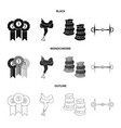 isolated object of equipment and riding symbol vector image vector image