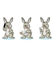 Light Green Bunny with phone vector image vector image