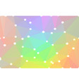 light rainbow geometric background with lights vector image vector image