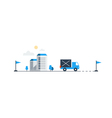 Logistics company truck delivery vector image vector image