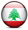 Map with Dot Pattern on flag button of Lebanese vector image vector image