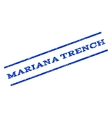 Mariana Trench Watermark Stamp vector image vector image