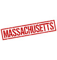 massachusetts red square stamp vector image vector image