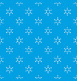 molecule pattern seamless blue vector image