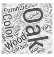oak garden furniture Word Cloud Concept vector image vector image