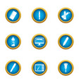 paint material icons set flat style vector image vector image