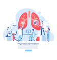 physical and respiratory system examination vector image