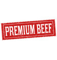 premium beef sign or stamp vector image vector image