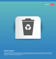 recycle icon - blue sticker button vector image