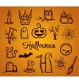 retro graphical composition with Halloween eleme vector image vector image