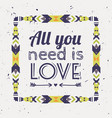 romantic poster with tribal graphic design vector image vector image