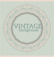 round frame with vintage ornament vector image vector image