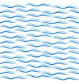 seamless blue wave pattern vector image