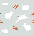 seamless bunnies background vector image vector image