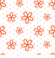 Seamless Flowers on a white background vector image vector image