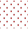 seamless pattern with hand drawn wild strawberries vector image vector image