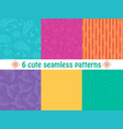 set of cute bright seamless patterns abstract vector image vector image