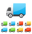 set of delivery truck icons vector image vector image