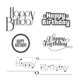 Set of Happy Birthday lettering vector image vector image