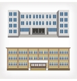 set two buildings vector image vector image