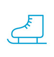 skates icon line style vector image