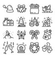 solid icon set - christmas tree vector image