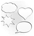 speech bubbles in different shape pop art style vector image