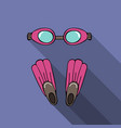 sport with goggles and flipper vector image