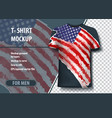t-shirt mock-up template with usa flag in vector image vector image