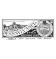 the state banner of pennsylvania the keystone vector image vector image