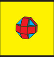 the three-dimensional geometric figure is a ball vector image vector image