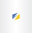 thunder yellow blue logo icon vector image vector image