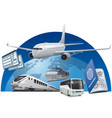transport for travel vector image vector image