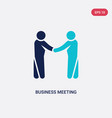 two color business meeting icon from humans vector image vector image