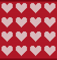 valentines day love heart knitted seamless pattern vector image vector image