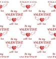 Valentines day typography seamless vector image