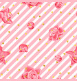 wedding seamless pattern background with roses and vector image vector image